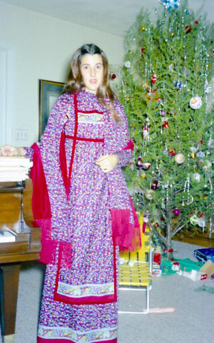 Glenda at Christmas 1971