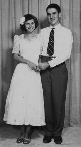 Wanda E Cowart (Ebersole)and William G Ebersole about 1947, At a dance at the University of Florida